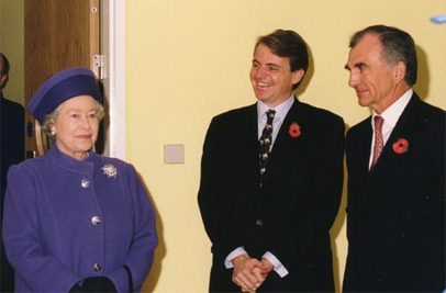 Her Majesty the Queena at James Mellon Hall and David Paterson House opening ceremony