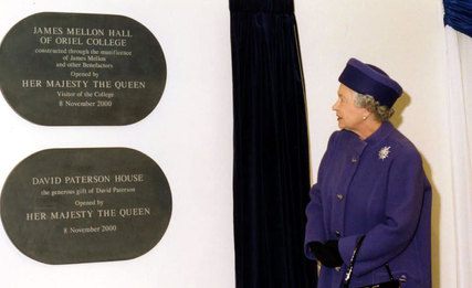 Opening of James Mellon Hall of Oriel College and David Paterson House by Her Majesty the Queen